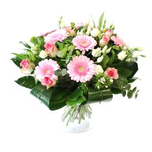 Gemengd boeket met gerbera roos